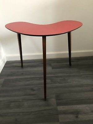 Vintage Formica Table Tripod 3 Legged Side Table Mid Century Atomic/kidney Shape