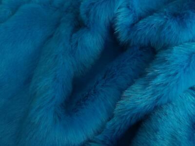LUXURY Faux Fur Fabric Material - TURQUOISE