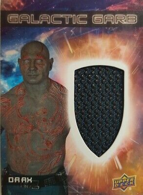 GUARDIANS of The GALAXY Vol 2 Costume Card GALACTIC Garb  DRAX  SM - 3
