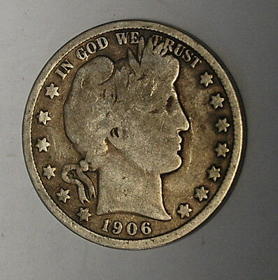 (B2) **1906-D SILVER Barber Half Dollar (Low and Combined shipping)