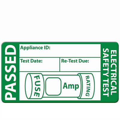 240 Passed PAT Test Labels and 20 Failed Stickers FREE - Free Delivery too!