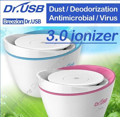 Blue Dr.USB 3.0 Air Purifier ionizer for Home Cleaner Plasma Healing Ion
