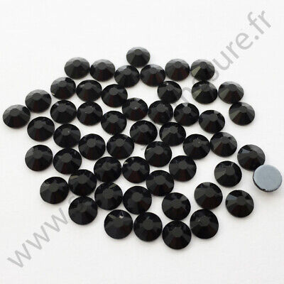 Strass thermocollant hotfix NOIR, 2mm, 3mm, 4mm, 5mm,  6mm au choix
