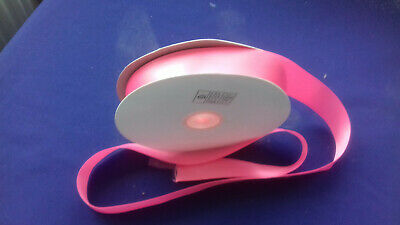 4 metres of 25mm (1 inch ) Bright Pink satin ribbon