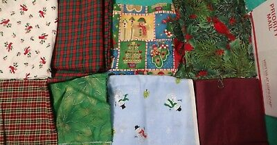 5 lb 3 oz Box of Fabric Scraps, Holiday & Kids with Assorted Others    FSBTB34