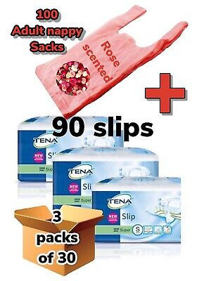Case Saver Pack Of 3 Tena Super Small 90 Slips Incontinence Aids Pants 711130 Np