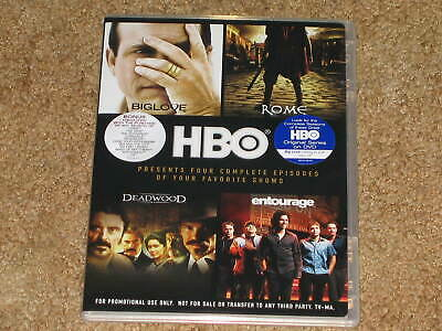 HBO Promo DVD - Mark Wahlberg - First Episodes Entourage Deadwood Rome Big Love