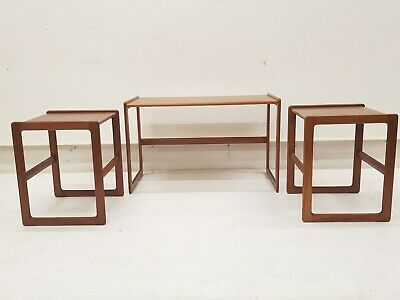 Vintage Mid Century Danish Arne Hovmand Olsen Mogens Kold Nest Side Coffee Table
