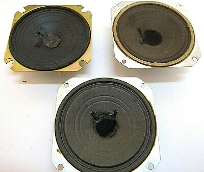 Vintage radio used speaker lot of 3 Excellent for direct replacement 40s 50s set