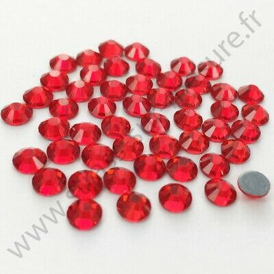 Strass thermocollant hotfix ROUGE, 2mm, 3mm, 4mm, 5mm,  6mm au choix
