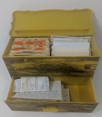 Vintage Recipes with Box and 300+ Recipe Clippings and Handwritten, Lerner Box