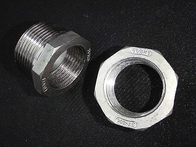 "STAINLESS STEEL BUSHING REDUCER 1 1/4"" x 1"" NPT PIPE BS-125-100"