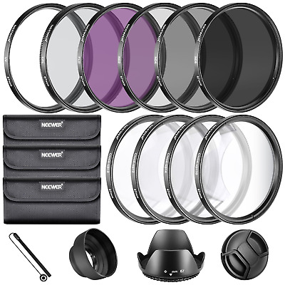Neewer® 67MM Complete Lens Filter Accessory Kit for Lenses with Size: UV CPL...