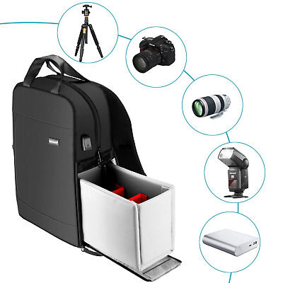 """Neewer Camera Backpack Case 11.4x16.9"""" Waterproof Durable and Padded..."""