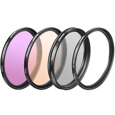 Neewer 4x 67MM UV CPL FLD Warm Filter Set for CANON EOS 70D 60D 5DSR 7D Mark...