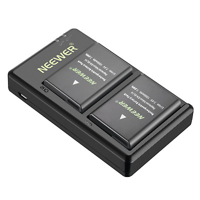 Neewer EN-EL14A EN-EL14 Charging Set Rechargeable Battery Kit for Nikon...
