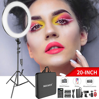 Neewer 20-inch LED Ring Light Kit: (1) 44W Dimmable Circle 2M Pro Stand(1)...