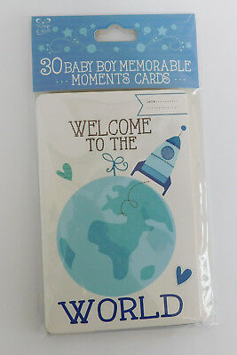 Memorable Moments Milestone Cards New Baby Boy - Shower Gift - 30 Cards