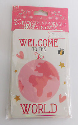 Memorable Moments Milestone Cards New Baby Girl - Shower Gift - 30 Cards