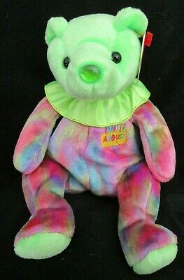 Ty Beanie Baby August Peridot Birthstone Teddy Happy Birthday Bear 6a5b3131fc90