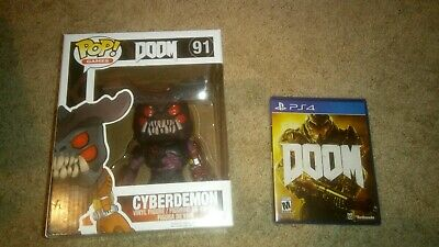 Doom Playstation 4 PS4 Bundle with Cyberdemon Funko Pop Vinyl 91 BRAND NEW