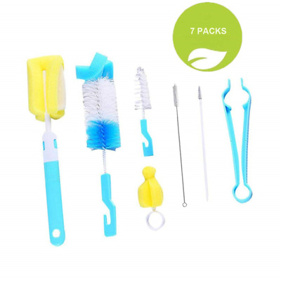 Bottle Brush, 7 pcs Baby Cleaner kit for Bottles/Cups/Straw