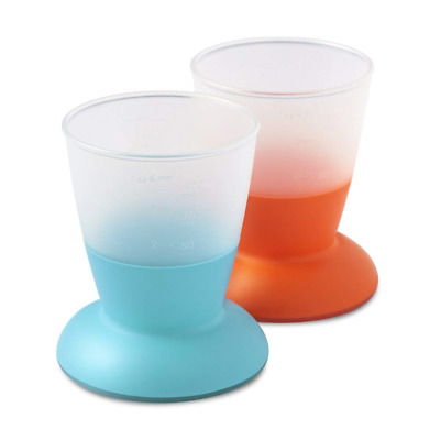 BABYBJÖRN Baby Cup, 2-pack (Orange/ Turquoise)