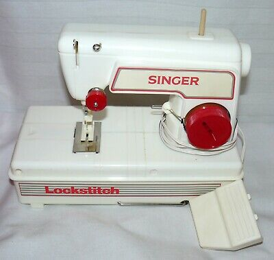 Singer Toy Lockstitch Vintage Sewing Machine Original Box With Instructions
