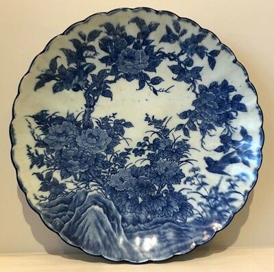 LARGE 1850+ JAPANESE Imari CHRYSANTHEMUM Charger PLATE - SIX KILN SPURS-EX COND