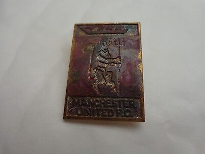 Manchester United Utd Vintage 70's Red Devil Logo Enamel Football Pin Badge