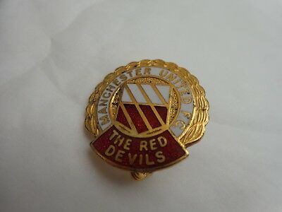 Manchester United Utd Classic 70S The Red Devils Coffer Football Pin Badge