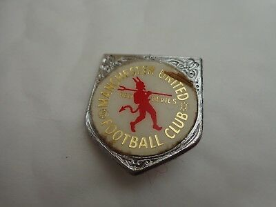 Manchester United Utd Vintage 70's Red Devils Insert Enamel Football Pin Badge