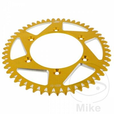 Yamaha YZ 250 2T 2000 JMP Gold Aluminium Rear Sprocket (51 Teeth)