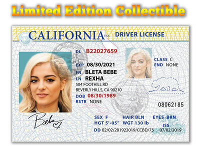 Bebe Rexha Superstar 2018 Grammy Limited Edition Collectible License
