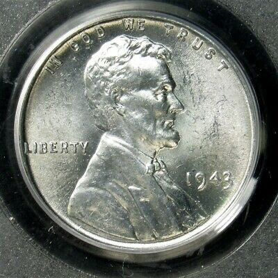 1943 Lincoln Wheat Steel Cent - PCGS MS66 - Certified Gem Uncirculated Penny