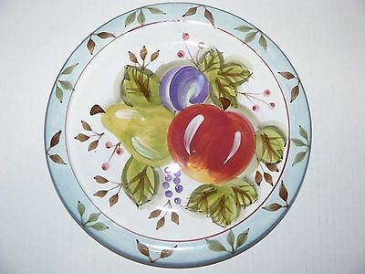 "6 New Heritage Mint LTD Black Forest Fruits 10-1/2"" Dinner Plates Dinnerware"