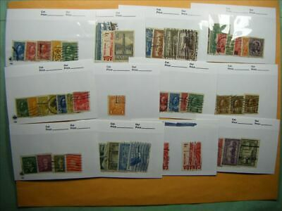 4703 Canada Lot of 12 Used Stamp Packs