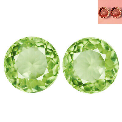 1.23Ct [2Pcs] Matching Pair Round Cut 5 x 5 mm Color Change Diaspore