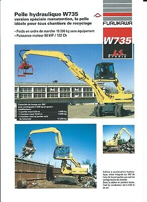 Equipment Brochure - Furukawa - W735 Scrap Material Handler FRENCH lang (E5005)