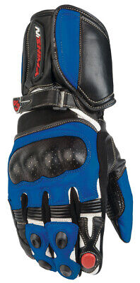 Nitro NG-101 Motorbike Motorcycle Gloves Sports knuckle guard Black Blue Small
