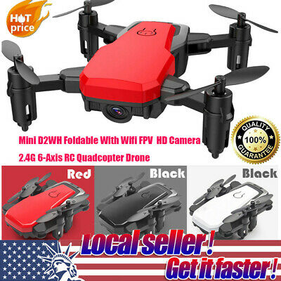 Mini D2WH Foldable Wifi FPV HD Camera 2.4G 6-Axis RC Quadcopter Drone Toys CH