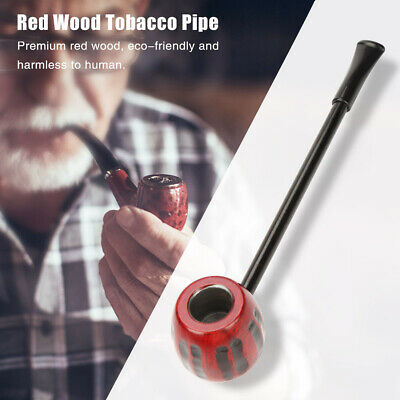 Collectible Durable Wooden Red Wood Smoking Pipe Tobacco Cigarettes Cigar Pipes