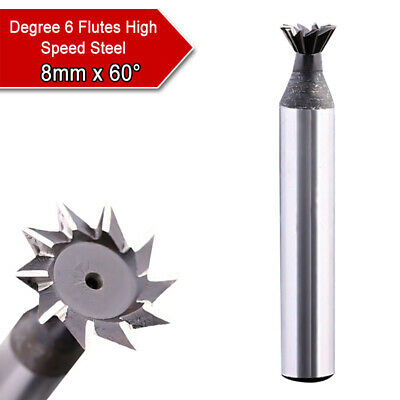 6/8mm x 60° HSS Milling Speed Steel Router Bits Tools Dovetail Cutter End Mill