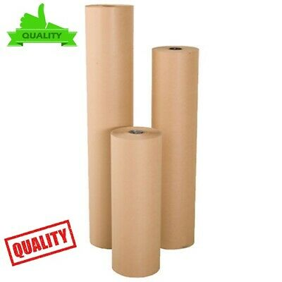 STRONG BROWN KRAFT WRAPPING PARCEL PAPER PACKAGING WRAPPING 90GSM FREE postage