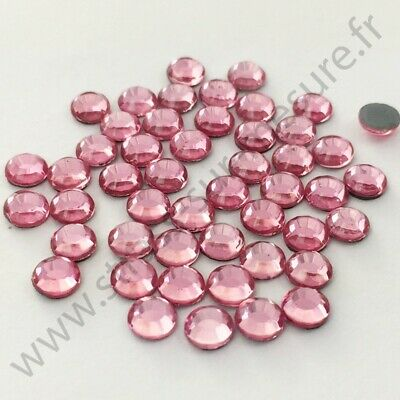 Strass thermocollant hotfix ROSE CLAIR, 2mm, 3mm, 4mm, 5mm,  6mm au choix