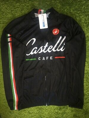 CASTELLI CAFE CYCLING JERSEY SIZE XL MAGLIA TRIKOT CAMISETA LONG ... 82088c73b