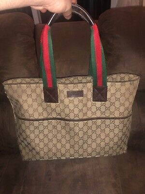 21addee31b4 Authentic GUCCI GG canvas Bag Canvas Monogram Tote 155524 (Used)