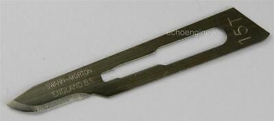 100 - SWANN MORTON STERILE SCALPEL BLADES, No.15T to fit No.3 HANDLE, UK MADE