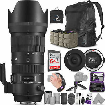 Sigma 70-200mm f/2.8 DG OS HSM Sports Lens for Canon EF with USB Dock & Bundle