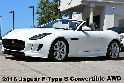 2016 Jaguar F-TYPE S Convertible 2016 F Type S Convertible AWD Auto V6 380HP Supercharged White Like New Perfect